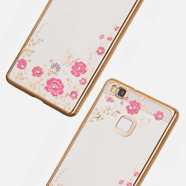 Hurtel Bloomy Stylish Flower Back Case For Huawei P9 Lite Gold