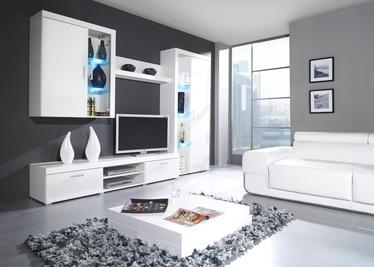 Шкаф-витрина Cama Meble Samba RO6, белый, 90x35x203 см