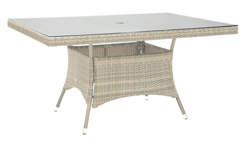 Садовый стол Home4you Wicker Beige, 150 x 100 x 74 см