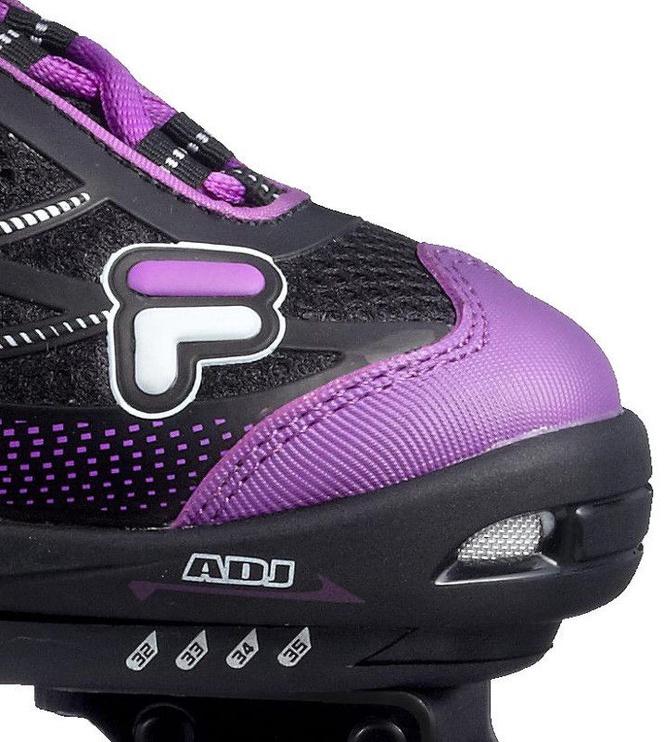Ролики Fila Wizy Alu Girl Black/Purple, 35-38