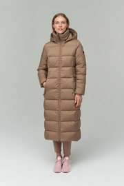 Audimas Long Puffer Down Coat Pine Bark XL