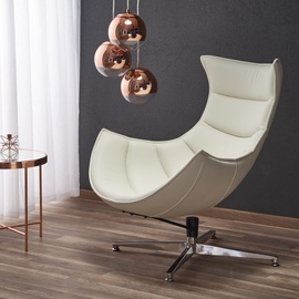 Atzveltnes krēsls Halmar Luxor, balta, 84x86x96 cm