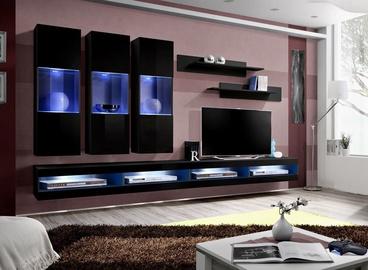 Dzīvojamās istabas mēbeļu komplekts ASM Fly Q7 Black