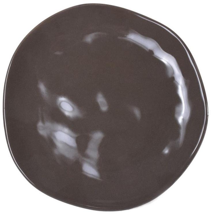 Bradley Organic Ceramic Plate 26cm Brown 12pcs