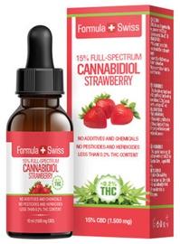 Formula Swiss Cannabidiol Strawberry Full Spectrum 10ml 15%