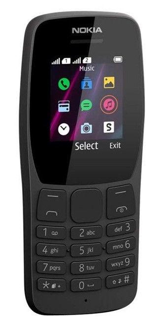 Mobilais telefons Nokia 110, melna/4MB