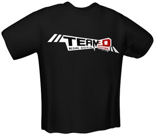 GamersWear Team3D T-Shirt Black XL