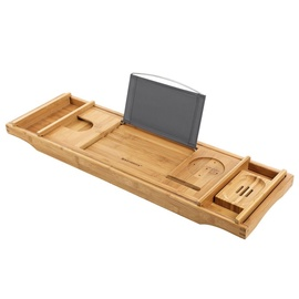 Songmics Bathtub Caddy Bamboo