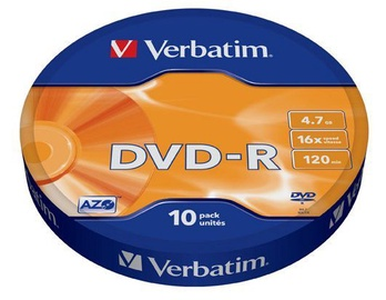 Verbatim DVD-R 4.7GB 16x 10pcs