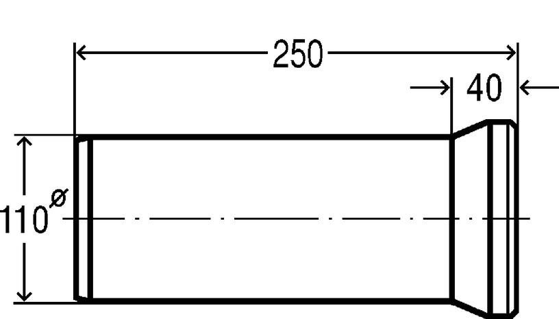 PIESLĒGS WC 101312 250MM BALTS (VIEGA)