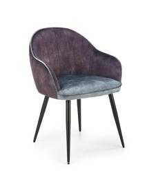 Ēdamistabas krēsls Halmar K440, zila/tumši pelēka