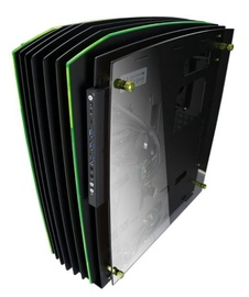 In Win H-Frame Big Tower Black/Green