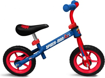 Балансирующий велосипед Running Bike Spiderman, синий, 10″