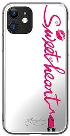 Kingxbar Angel Mirror Sweet Heart Back Case With Swarovski For Apple iPhone 11 Transparent