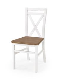 Ēdamistabas krēsls Halmar Dariusz 2 White/Dark Walnut
