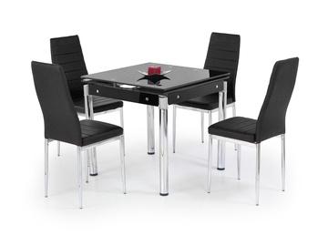 Pusdienu galds Halmar Kent, melna, 1300x800x760mm