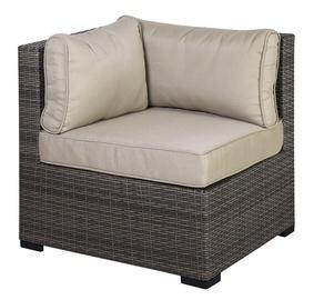 Moduļu dīvāna elements Home4you Sevilla Corner w/ Cushions Dark Brown