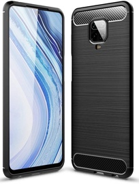 TakeMe Carbon Effect Back Case For Xiaomi Redmi Note 9 Pro Black