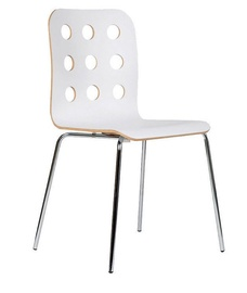 Ēdamistabas krēsls Black Red White Cantona White