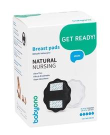 BabyOno Get Ready Natural Nursing Breast Pads Black 24pcs