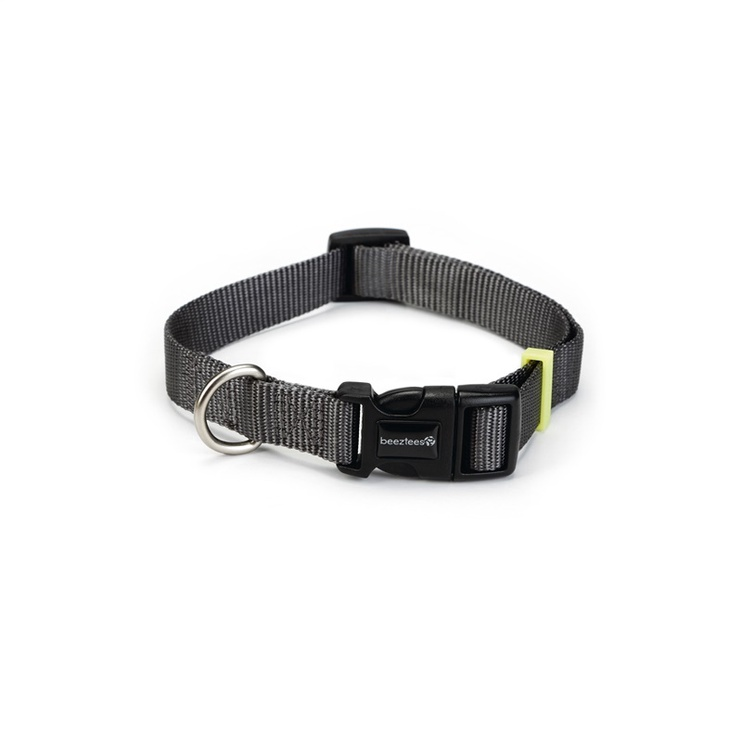 Beeztees Nylon Collar Uni Dark Grey 20-30x1cm