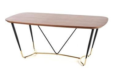 Pusdienu galds Halmar Manchester Walnut/Gold, 1800x900x760 mm