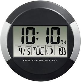 Hama PP-245 DCF Radio Wall Clock Black