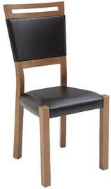 Ēdamistabas krēsls Black Red White Gent 2 Black, 1 gab.