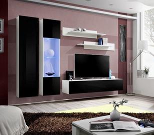 Dzīvojamās istabas mēbeļu komplekts ASM Fly A5 Black/White