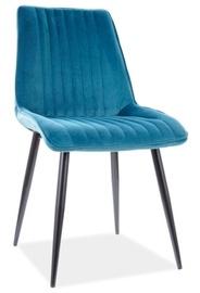 Ēdamistabas krēsls Signal Meble Kim Velvet, zila