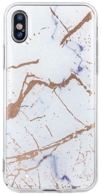 TakeMe Marmur Shine Back Case For Apple iPhone XS Max White