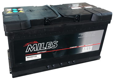 Аккумулятор Miles M090720, 12 В, 90 Ач, 720 а