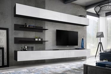 Dzīvojamās istabas mēbeļu komplekts ASM Fly I White/Black