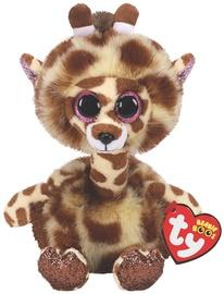 Mīkstā rotaļlieta TY Beanie Boos Gertie Giraffe 37402, brūna, 24 cm