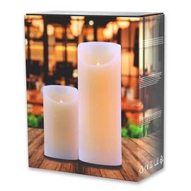 DecoKing Wax LED Candle Set 12.5/20cm 2pcs