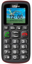 Мобильный телефон Maxcom MM428, черный/красный