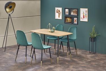 Pusdienu galds Halmar Tripolis Golden Oak/Black, 1200x700x760 mm