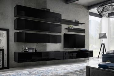 ASM Fly J1 Living Room Wall Unit Set Black