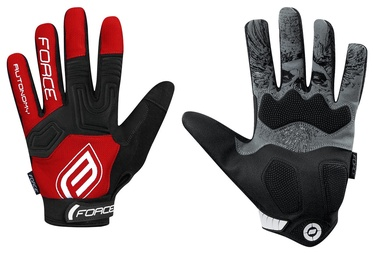 Force MTB Autonomy 17 Full Gloves Red/Black M