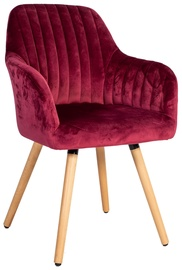 Ēdamistabas krēsls Home4you Ariel Wine Red, 1 gab.