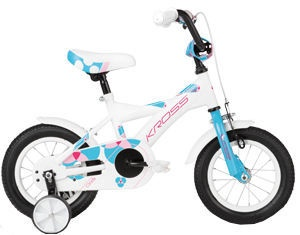 "Bērnu velosipēds Kross Cindy 12"" White/Blue"