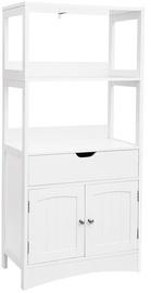 Skapis Songmics Floor Cabinet White 60x32.5x122cm