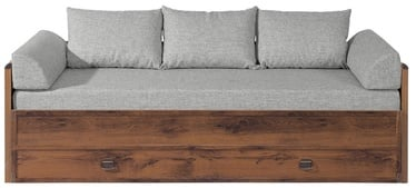 Bērnu gulta Black Red White Indiana Sutter Oak/Grey, 202x154 cm