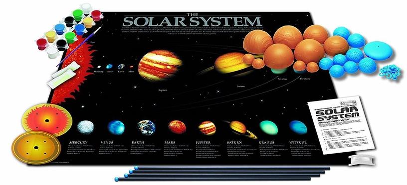 Intelektuāla rotaļlieta 4M 3D Glow In The Dark Solar System Model Making Kit 5520