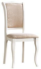 Ēdamistabas krēsls Signal Meble OPSC2 Ecru T08, balta
