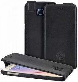 Bugatti Amsterd Vertical Book Cover For Samsung Galaxy S6 Black