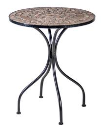 Садовый стол Home4you Mosaic 38664, черный, 60 x 60 x 70 см
