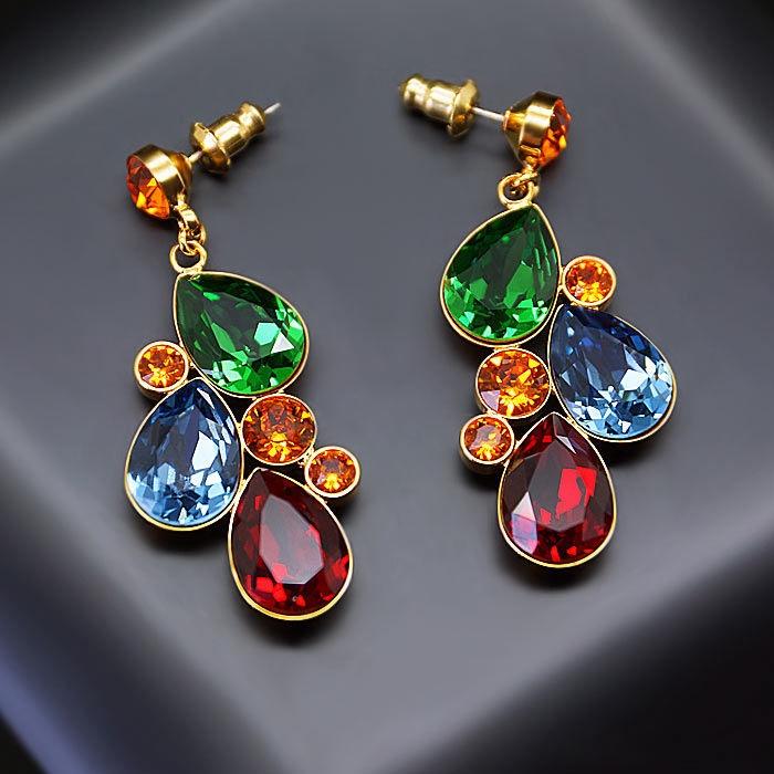 Diamond Sky Earrings Fillory Magic With Swarovski Crystals