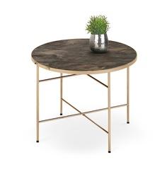 Журнальный столик Halmar Isabelle Dark Marble/Champagne, 600x600x450 мм