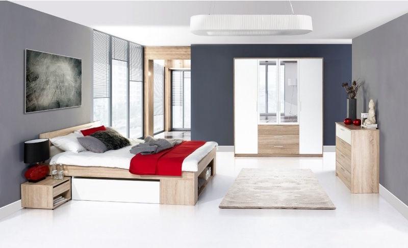 Szynaka Meble Bedroom Set Milo With 140x200cm Bed